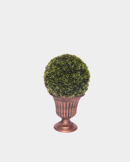 Short Round Topiary in Brass Base