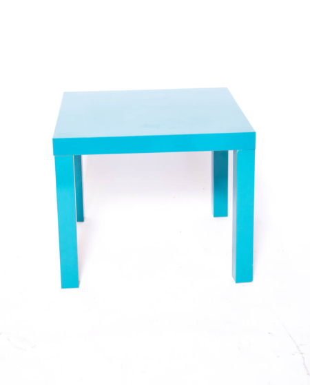 Wood Baby Blue Side Table
