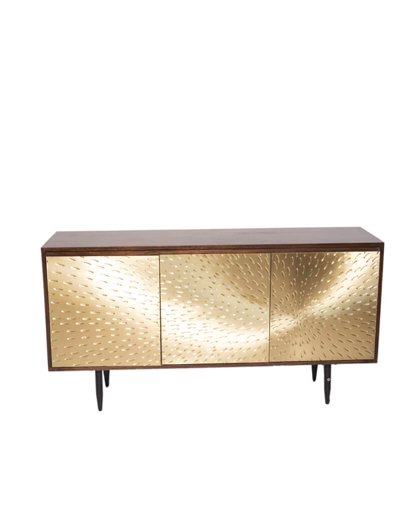 Gold Wood Credenza