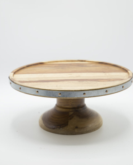 Wood Grain Cake Presentation Platter