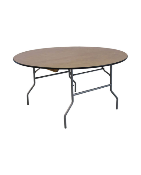 """60"""" Round Wood Table"""