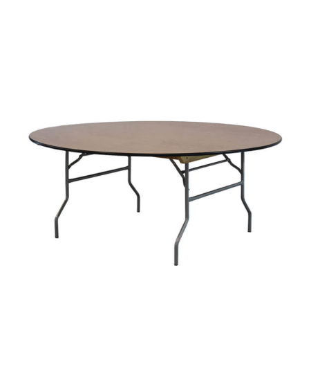 """72"""" Round Wood Table"""