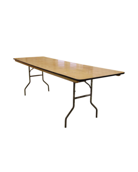 """8 ft X 30"""" Wood Banquet Table"""