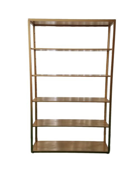 Metal Bar Shelf 4' by 6' - gold