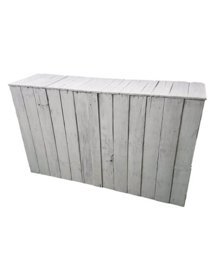 Rustic Pallet Bar 6' - white