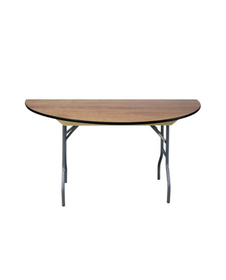 "60"" Semi Round Wood Table"