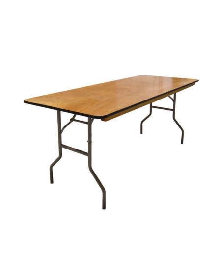 """6 ft X 30"""" Wood Banquet Table"""